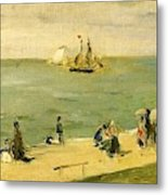 The Beach At Petit-dalles Also Known As On The Beach - 1873 - Virginia Museum Of Fine Arts Usa Metal Print