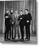 the beatles and ed sullivan - February, 1964 Metal Print