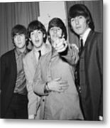The Beatles At The Paramount Theater Metal Print