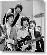 The Beatles, Ringo Starr Rear And L. To Metal Print