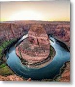 The Bend - Horseshoe Bend At Sunset In Arizona Metal Print