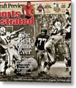 The Best Game Ever 1958 Colts Vs. Giants Sports Illustrated Cover Metal Print
