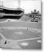 The Boston Braves And The New York Mets Metal Print