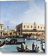 The Bucintoro At The Molo On Ascension Metal Print