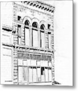 The Capital Transfer And Sands Brothers Building Helena Montana Metal Print