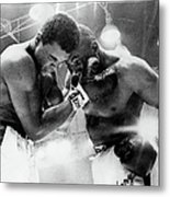 The Cassius Clay Vs Sonny Liston World Metal Print
