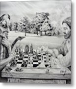 The Chess Game Metal Print