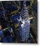 The Chrysler Building And Manhattan Metal Print