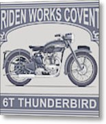The Classic Thunderbird Motorcycle Metal Print