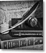 The Constitutional Lawyer In Black And White Metal Print