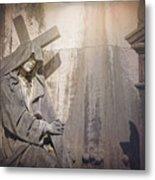 The Crosses We Bear Prazeres Historic Cemetery Lisbon Portugal Metal Print