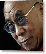 The Dalai Lama Visits The Uk Metal Print