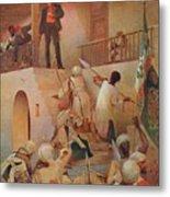 The Death Of General Gordon, Khartoum Metal Print