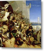 The Defence Of Rhodes By Foulques De Villaret And The Knights Of St. John Of Jerusalem, 1309 Metal Print