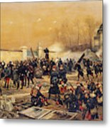 The Defense Of Champigny  Metal Print