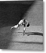 The Dodgers Hal Gregg, In Action In The Metal Print