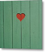 The Door To A Outhouse Metal Print