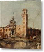 The Entrance To The Arsenal In Venice  Metal Print