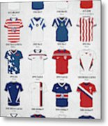 The Evolution Of The Us World Cup Soccer Jersey Metal Print