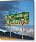 The Extraterrestrial Highway Metal Print
