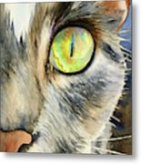 The Eye Of The Kitty Metal Print