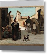 The Fable Of The Miller  His Son  And The Donkey  Metal Print