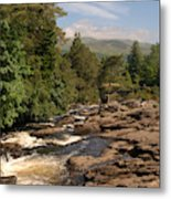 The Falls Of Dochart And Bridge At Killin In Scottish Highlands Metal Print