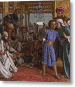 The Finding Of The Savior At The Temple Metal Print