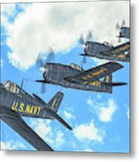 The First Blue Angels - Oil Metal Print