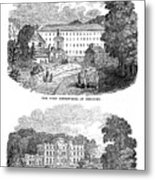 The First Cotton Mill At Cromford Metal Print