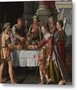 The First Passover Feast Metal Print