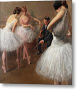 The First Pose, The Ballet Lesson Metal Print