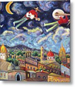The Flying Mariachis Metal Print
