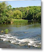 the ford at Etal on river Till Metal Print