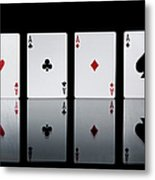 The Four Aces From A Pack Of Playing Metal Print