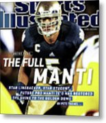The Full Manti Notre Dame Sports Illustrated Cover Metal Print
