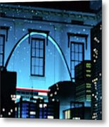 The Gateway Arch And The City Metal Print