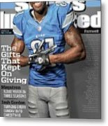The Gifts That Kept On Giving Megatron Sports Illustrated Cover Metal Print