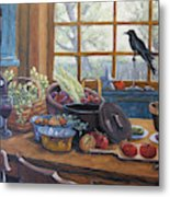 The Good Harvest Country Kitchen By Richard Pranke Metal Print