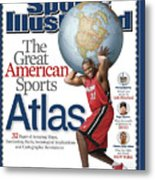 The Great American Sports Atlas Sports Illustrated Cover Metal Print