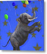 The Happiest Elephant Metal Print