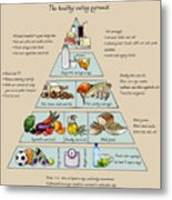 The Healthy Eating Pyramid. Colorful Metal Print