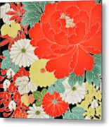 The Japanese Kimono, Close Metal Print