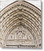 The Judgement Portal Of Notre Dame De Paris Metal Print