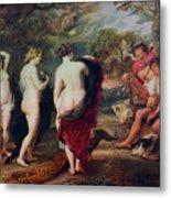 The Judgment Of Paris, C1635-1638 Metal Print
