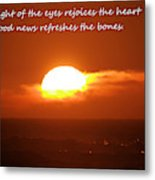 The Light Of The Eyes Metal Print