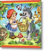 The Little Red Riding Hood Metal Print