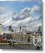 The London Skyline Towards St Pauls Metal Print