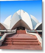 The Lotus Temple, Located In New Delhi Metal Print