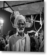 The Many Shades Of Delhi - Turbaned Man Metal Print